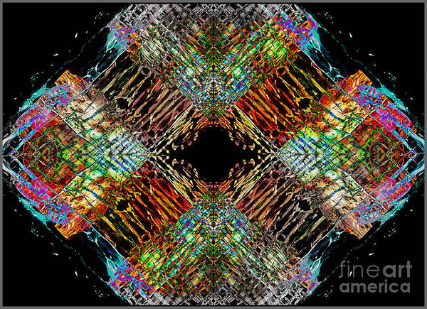 Painting - Crystallized Lattice.. by Jolanta Anna Karolska