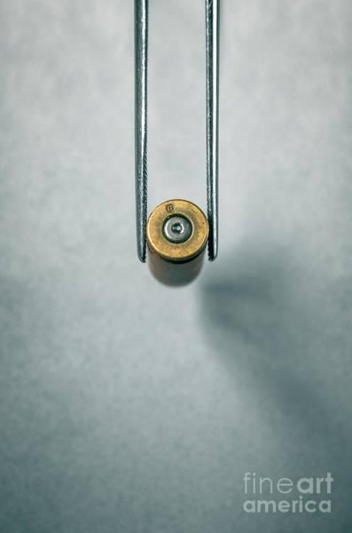 Abduction Wall Art - Photograph - Csi Bullet Shell Evidence  by Carlos Caetano