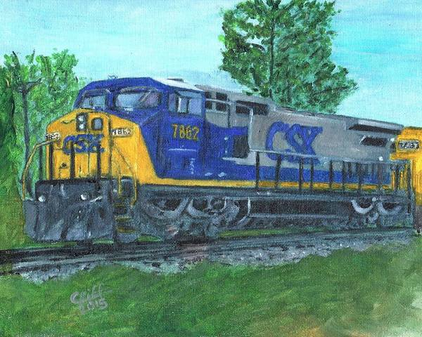 Diesel Trains Painting - CSX by Cliff Wilson