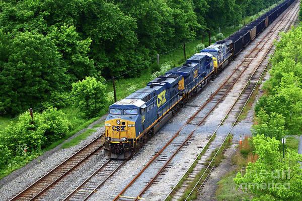 Photograph - Csx Coal Train At Brunswick Maryland by James Brunker