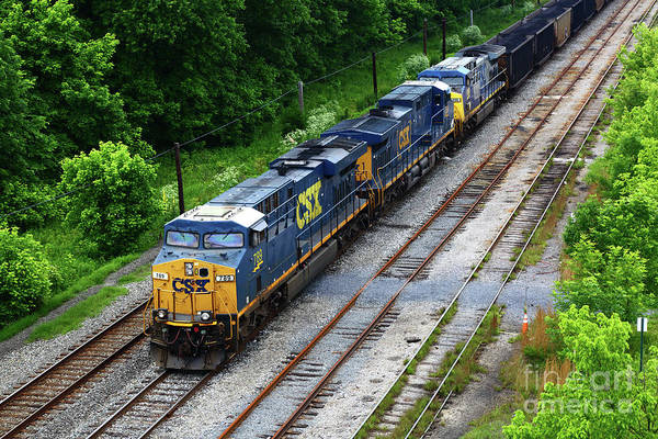 Photograph - Csx Diesels At Brunswick Maryland by James Brunker
