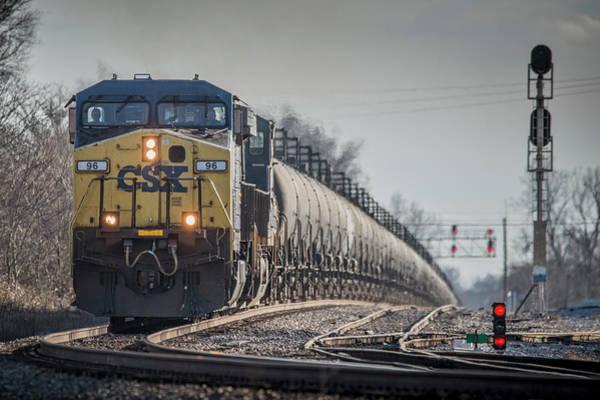Subdivision Photograph - Csx Ethanol Train At Henderson Ky by Jim Pearson