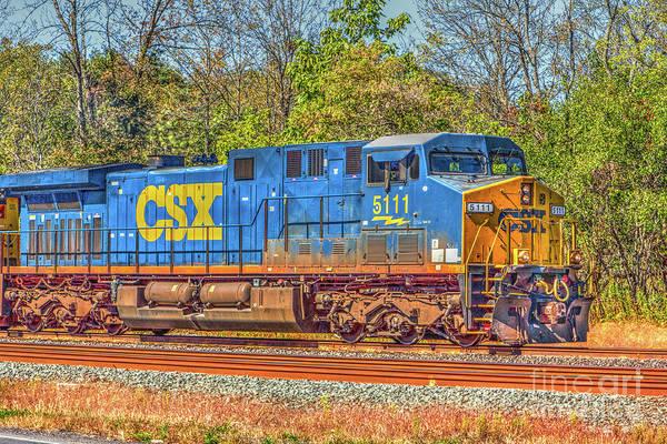 Photograph - Csx Locomotive 5111 by Rod Best