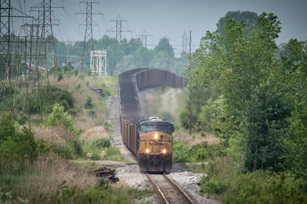 Subdivision Photograph - Csx N013 Leaving Warrior Coal by Jim Pearson