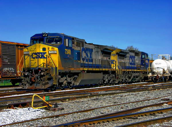 Photograph - Csx Train Engines by Anthony Dezenzio