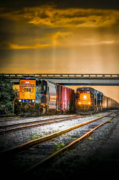 Freight Wall Art - Photograph - Csx Two For One by Marvin Spates