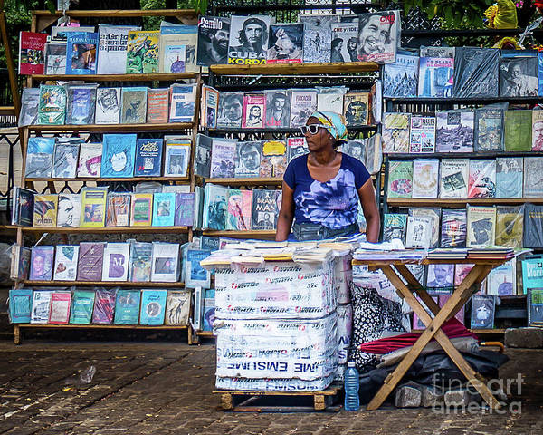 Wall Art - Photograph - Cuba Book Market by Perry Webster