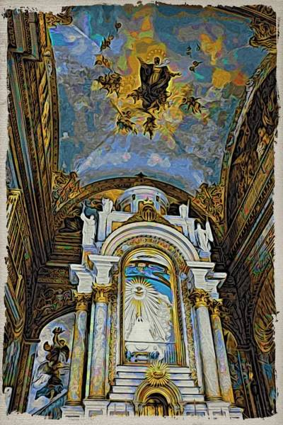 Photograph - Cuba Interior Church by Alice Gipson