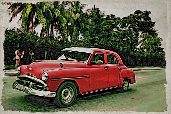 Photograph - Cuba Red And Greenery by Alice Gipson