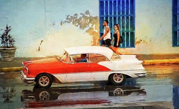 Photograph - Cuba Red And White by Alice Gipson
