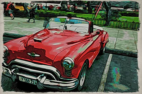 Photograph - Cuba Red Parked by Alice Gipson