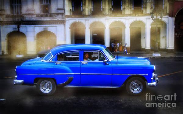 Photograph - Cuban Blue Car by Craig J Satterlee