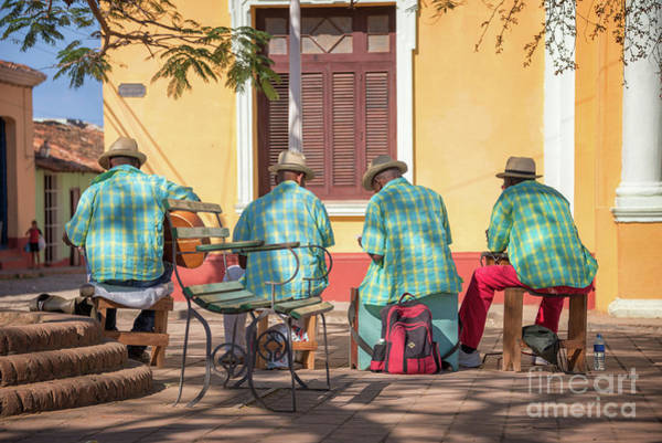 Street Performers Photograph - Cuban Music by Delphimages Photo Creations