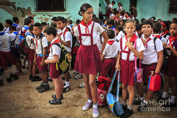 Photograph - Cuban School Yard by Craig J Satterlee