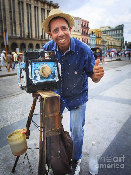 Photograph - Cuban Tourist Photographer by Craig J Satterlee