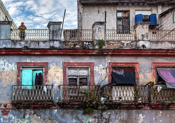 Wall Art - Photograph - Cuban Woman At Calle Bernaza Havana Cuba by Charles Harden
