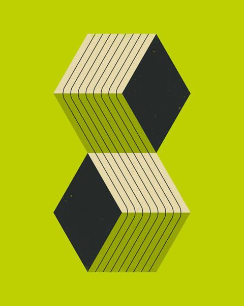 Geometry Digital Art - Cubes 8 by Jazzberry Blue