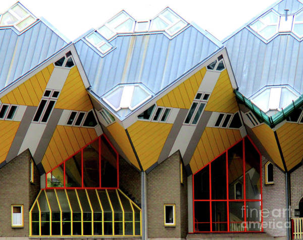 Cube House Wall Art - Photograph - Cube Houses 1 by Randall Weidner