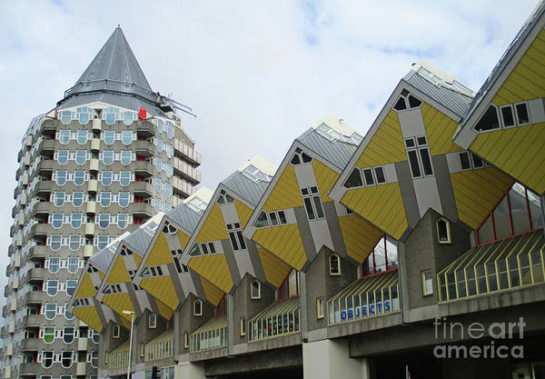 Cube House Wall Art - Photograph - Cube Houses 20 by Randall Weidner