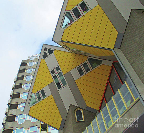 Cube House Wall Art - Photograph - Cube Houses 35 by Randall Weidner