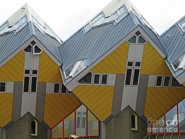 Cube House Wall Art - Photograph - Cube Houses 6 by Randall Weidner