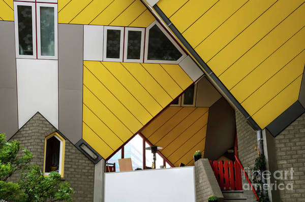 Wall Art - Photograph - Cube Houses Detail In Rotterdam by RicardMN Photography