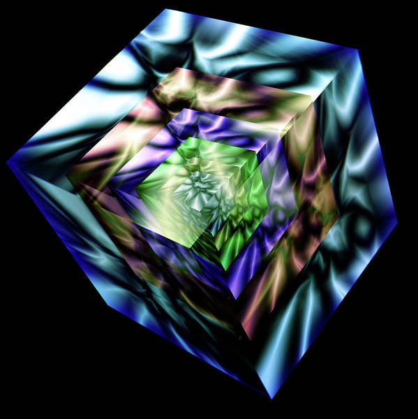 Showpiece Digital Art - Cubes In Cubes by Andy Young