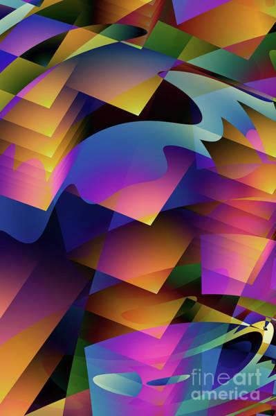 Broken Digital Art - Cubesque by John Edwards