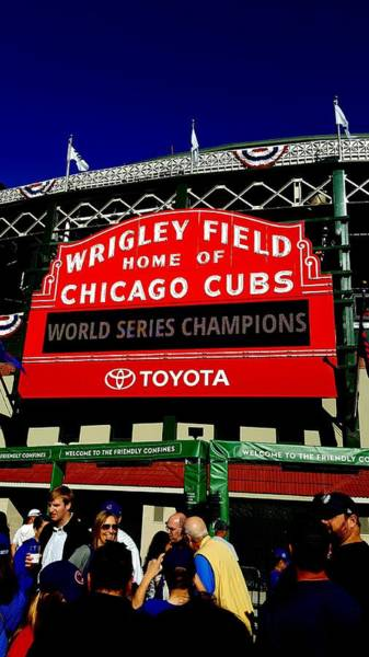 Photograph - Cubs Champions by Sue Conwell