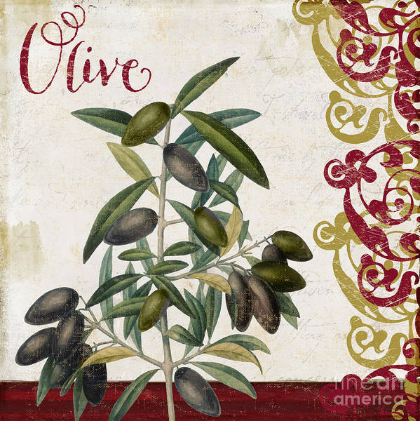 Olive Oil Painting - Cucina Italiana Olives by Mindy Sommers