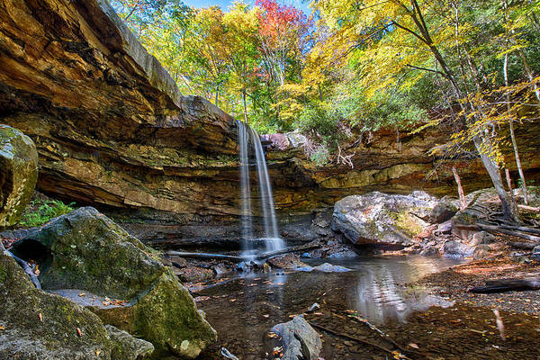 Wall Art - Photograph - Cucumber Falls In Ohiopyle State Park by Brendan Reals