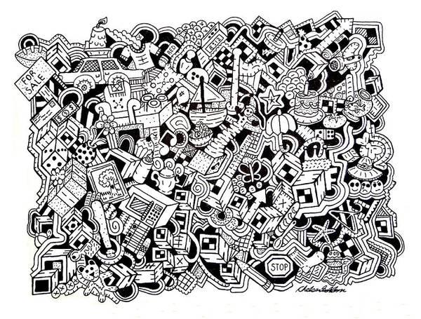 Wall Art - Drawing - Cuddlebear by Chelsea Geldean