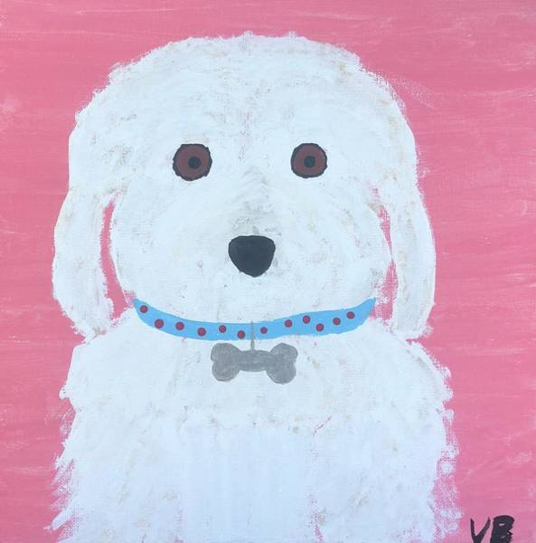 Maltipoo Wall Art - Painting - Cuddles The Dog by Valerie