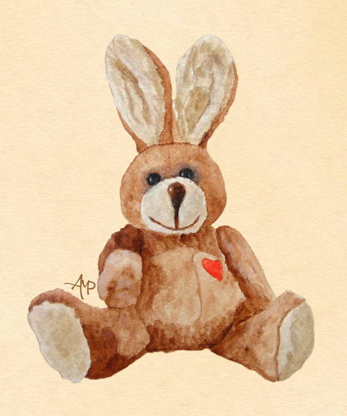 Painting - Cuddly Care Rabbit by Angeles M Pomata