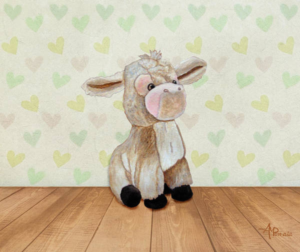 Painting - Cuddly Donkey by Angeles M Pomata