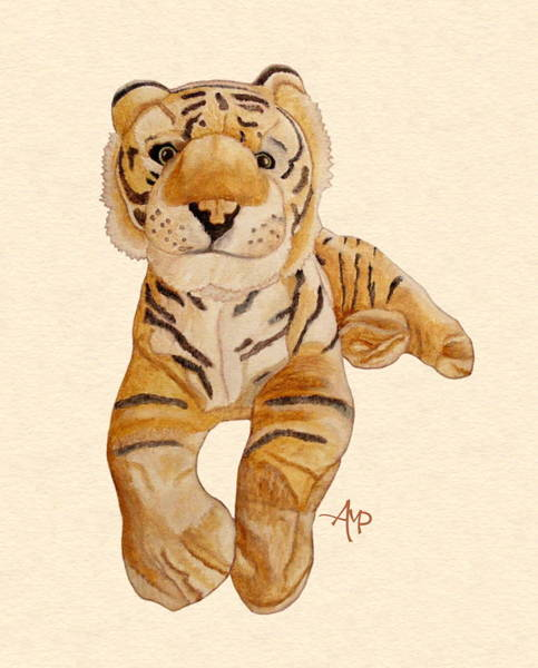 Painting - Cuddly Tiger by Angeles M Pomata