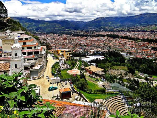 Expanse Photograph - Cuenca And Turi Ecuador by Al Bourassa