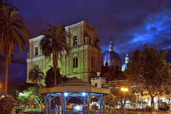 Photograph - Cuenca Cathedral And Main Plaza by Sam Antonio Photography