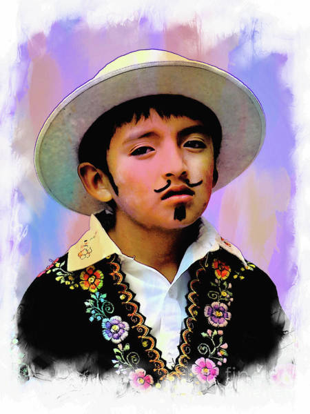 Goatee Photograph - Cuenca Kids 1044 by Al Bourassa