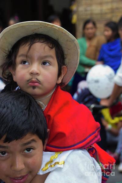 Goatee Photograph - Cuenca Kids 758 by Al Bourassa