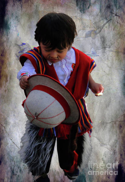 Poncho Wall Art - Photograph - Cuenca Kids 944 by Al Bourassa