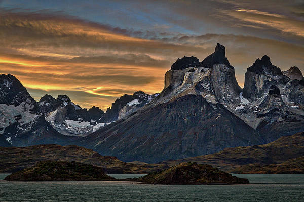 Photograph - Cuernos Sunset Begins #2 - Patagonia by Stuart Litoff