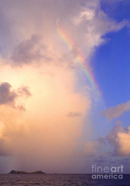 Photograph - Culebra Rain Cloud And Rainbow by Thomas R Fletcher