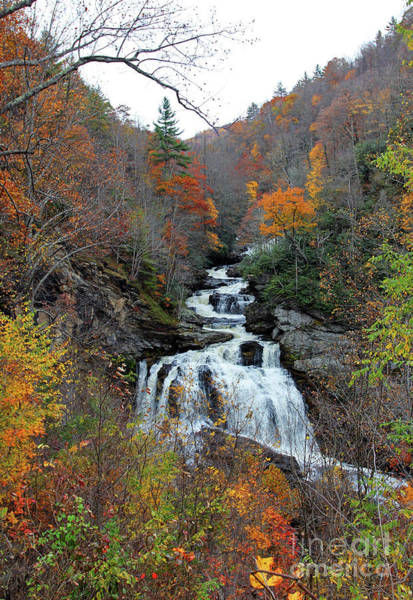 Photograph - Cullasaja Falls In Autumn by Jennifer Robin