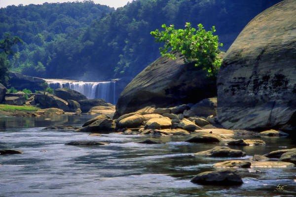 Photograph - Cumberland Below The Falls by Sam Davis Johnson
