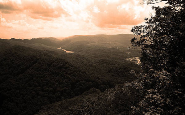 Photograph - Cumberland Gap - Kentucky Sepia 3 by Frank Romeo