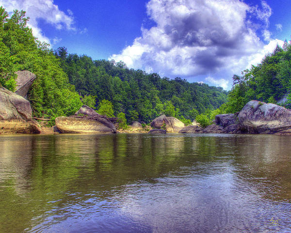 Photograph - Cumberland River Below The Falls 2 by Sam Davis Johnson