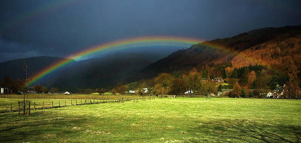 Photograph - Cumbrian Rainbow by Meirion Matthias