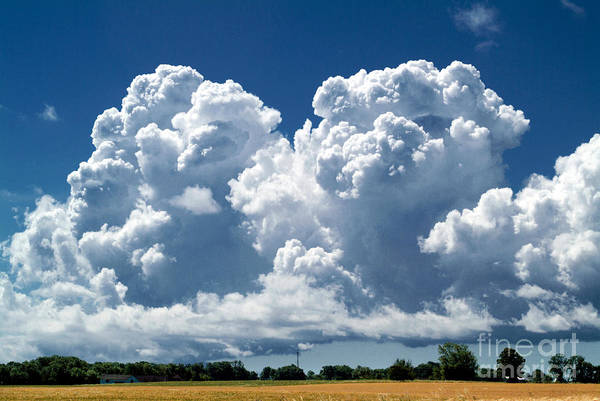 Photograph - Cumulus Clouds by Phil Degginger