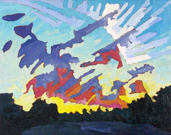 Wall Art - Painting - Cumulus Fractus Sunrise by Phil Chadwick